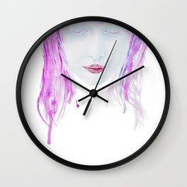 Eyes closed Wall Clock