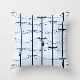 Telephone Poles - DAY Throw Pillow