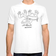 HELLOcopter White Mens Fitted Tee SMALL