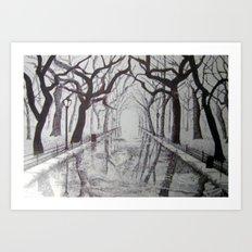 The Park Art Print