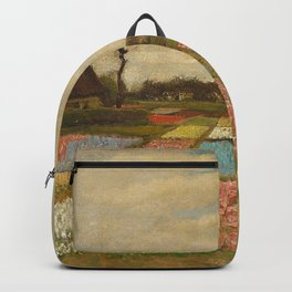 Tulip Bulb Fields by Vincent van Gogh Backpack
