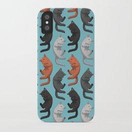 Sleeping Cats Pattern iPhone Case