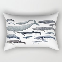 Whale diversity Rectangular Pillow