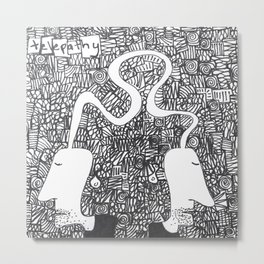Telepathy Metal Print