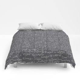 Math Equations // Charcoal Comforters