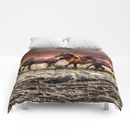 Animal Horses Fauna Comforters