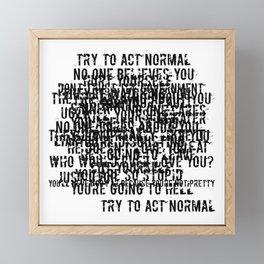 Psychosis Speech 1 Framed Mini Art Print