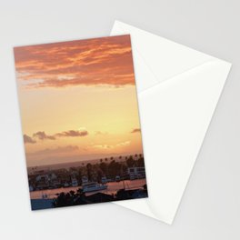 Modern Sunset On Cliff Drive Newport Beach CA Stationery Cards