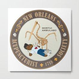 Mortui Ambulabo [New Orleans Acupuncturist Society] Metal Print