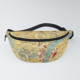 Vintage map of Central London Fanny Pack