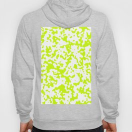 Spots - White and Fluorescent Yellow Hoody