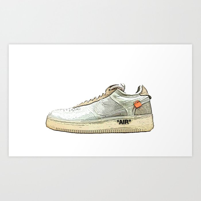 Off White X Air Force 1 Art Print by Authentic Vintage