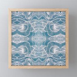 Ocean Lines Multiplied Framed Mini Art Print