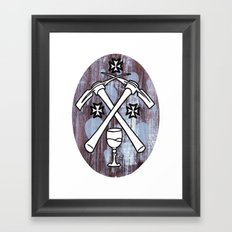 PIck your Axe Framed Art Print