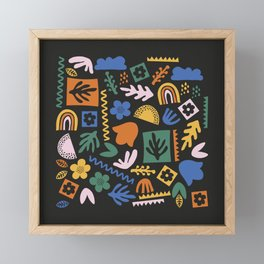 Shapes & Plants V Framed Mini Art Print