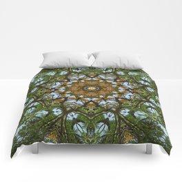 Yellow Tree Flower Kaleidoscope Art 5 Comforters