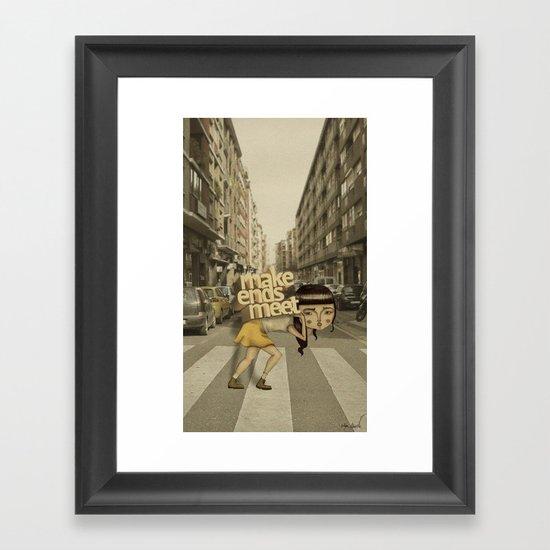 make ends meet Framed Art Print