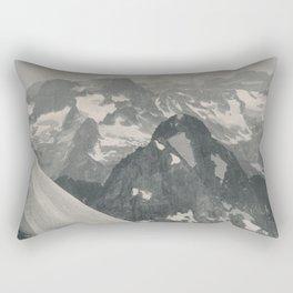 Swiss Mountain Panorama Litho Rectangular Pillow