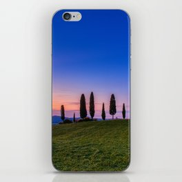 Cypress trees and meadow with typical tuscan house iPhone Skin