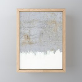 Painting on Raw Concrete Framed Mini Art Print
