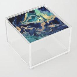 DRAMAQUEEN - GOLD INDIGO MARBLE Acrylic Box