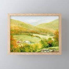 Autumn Fall on a Vermont Town Framed Mini Art Print