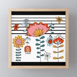 Folk Dance - Stripe Framed Mini Art Print