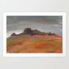 On the Crest of a Hill Art Print