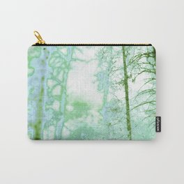 Magical forest in frosty greens Carry-All Pouch