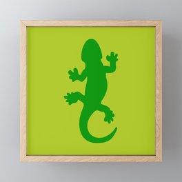 Green Lizard Framed Mini Art Print