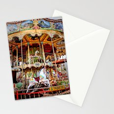 Double Decker Carnival Carousel Horse Stationery Cards