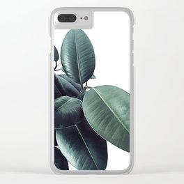 Ficus Elastica #18 #White #foliage #decor #art #society6 Clear iPhone Case