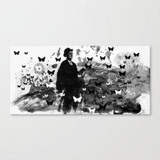 WALKING WITH JOYCE Canvas Print