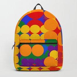 Gay Pride Layered Abstract Circle Grids Backpack