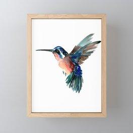 Flying Hummingbird Framed Mini Art Print