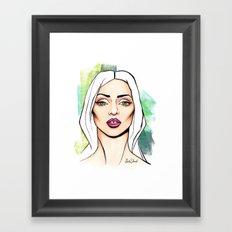 Snake eyes Framed Art Print