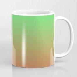 Bright Gradient Mi-Parti (Half And Half) Design! (Green, Pink, and Orange) Coffee Mug