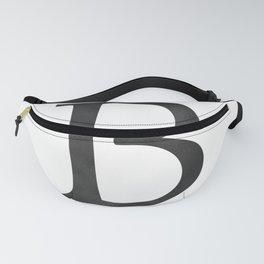 Letter B Initial Monogram Black and White Fanny Pack