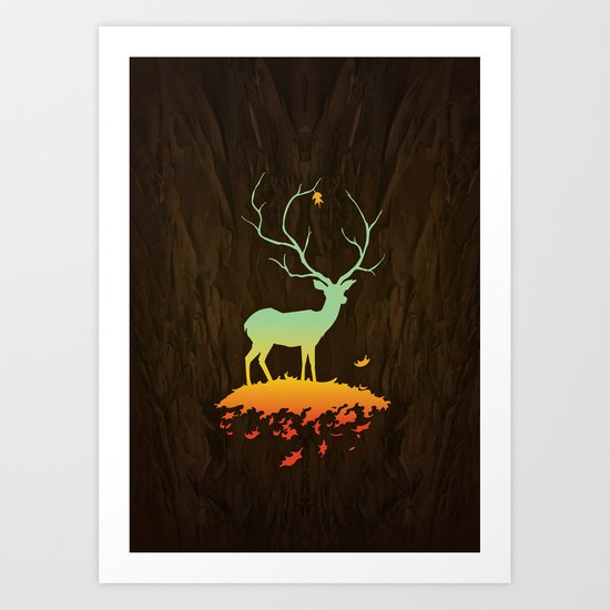 Fawn and Flora Art Print