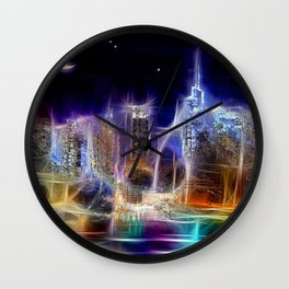 Starry Night New York City Wall Clock