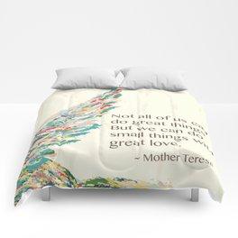 Mother Teresa Quote Comforters