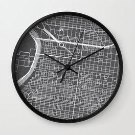 Center City Philadelphia Map Wall Clock