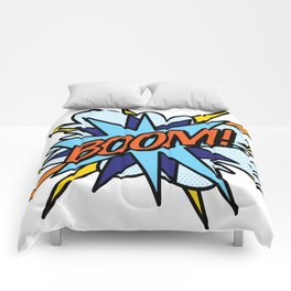 Comic Book Pop Art BOOM Comforters