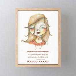 Happy Soul - Watercolor Girl Framed Mini Art Print