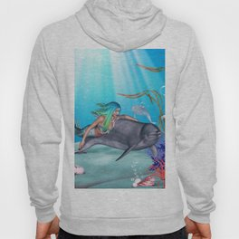 The Mermaid And The Dolphin Hoody