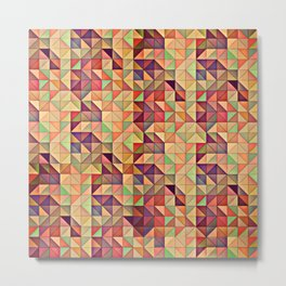 Triangular Patchwork Metal Print