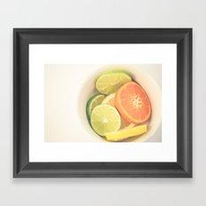 Citrus on White Framed Art Print