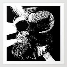 The Dead: Viking Skull of Power Art Print