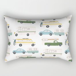 Vintage RV Motorhome Trailers Campers Rectangular Pillow