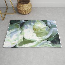 Floral white Rug